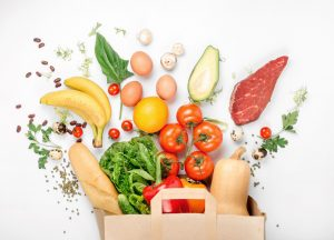 Full,Paper,Bag,Of,Different,Health,Food,On,A,White